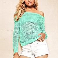 Marled Draped Open-back Sweater - Victoria's Secret