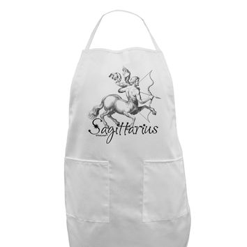 Sagittarius Illustration Adult Apron