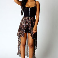 off shoulder Leopard grain wipe thoracic