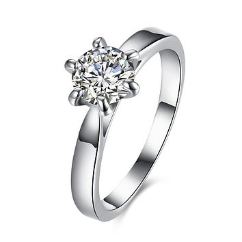 2.50 ct Round Diamond Princess Engagement Ring 925 Sterling Silver Unique Casual Rings