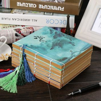 Chinese Tradtional Style Stitching Binding Notebook Paper Writing Journal Planner Composition Blank Book