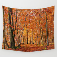 Autumn Wall Tapestry by Pirmin Nohr