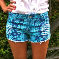 OMBRE DENIM SHORT