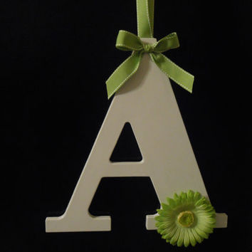 Painted Initial - Wall Decor - Door Decor - Wedding Decor - Painted Wooden Letters - Door Wreath - Graduation Gift - Dorm Decor