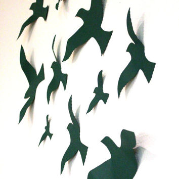 Bird 3D Wall Decor, Bird Wall Art, Nursery, Boys Room Decor, Wedding, Party, Handmade By MyDreamDecors