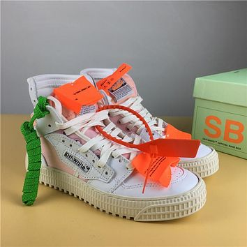 Off White Co Virgil Abloh 18ss White/pink Size 36 44 | Best Deal Online