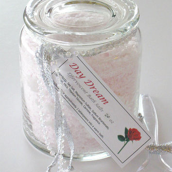 Day Dream Effervescent Bath Salts, Sea Salt Bath Soak, Scented- 24 oz gift jar OOAK
