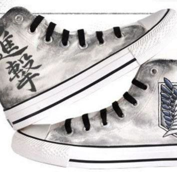 DCKL9 attack on titan converse hand painted converse anime shoes anime converse attack on ti