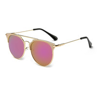 Pink Aviator Sunglasses Women Brand Designer UV400 Shades Golden ladies Eyewear Female Metal frame pilot Sun glasses for Men New