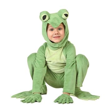 Kids Frog Prince Costume Little Frog Costume Animal Onesuits Jumpsuit Fancy Dress Carnival Halloween Costumes Animal Cosplay