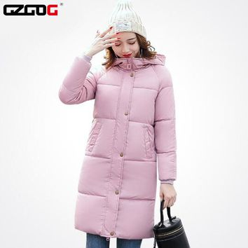 Woman Winter Jackets Sashes Hooded parkas Winter Coats Parka female Coat fashion women hot sale 2017