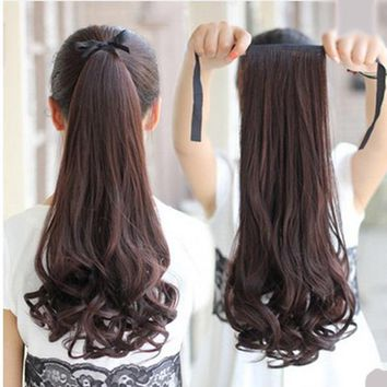 Vogue Lady Hairpiece Short Wavy Curly Claw Hair Ponytail Clip-on Hair Extensions