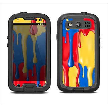 The Vector Paint Drips Samsung Galaxy S3 LifeProof Fre Case Skin Set