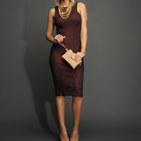 Sale-eggplant Textured And Shimmer Midi Dress