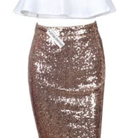 Holiday Halter Two Piece Dress