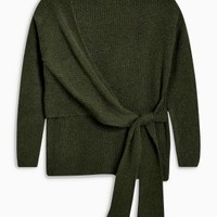 Buy Khaki Knot Front Sweater from the Next UK online shop