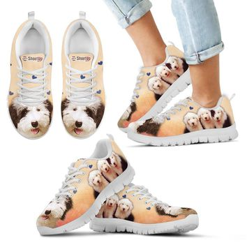Cute Old English Sheepdog Print Running Shoes For Kids- Free Shipping