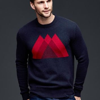 Gap Men Lambswool Mountain Sweater