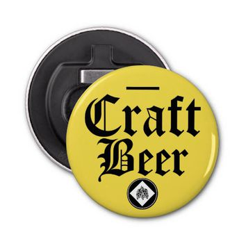 Craft Beer-Hops Yellow Bottle Opener