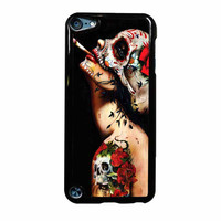 Floral Sugar Skull Tattooed iPod Touch 5th Generation Case