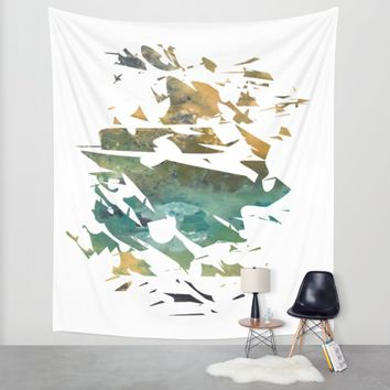Abstract Acrylic Painting Broken Glass THE MOUNTAIN --Modern art Wall Tapestry by Saribelle Inspirational Art | Society6