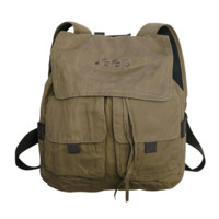 All Things Jeep - Jeep Embroidered Canvas Backpack, Camel