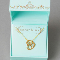 SERAPHINA FILIGREE HEART PENDANT NECKLACE