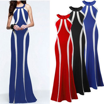 Sexy Women Sleeveless Prom Ball Cocktail Party Dress Formal Evening Gown = 1947013572