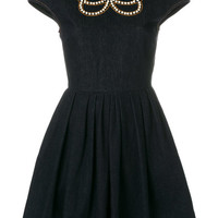 Fendi Denim pearl-embellished Dress - Farfetch
