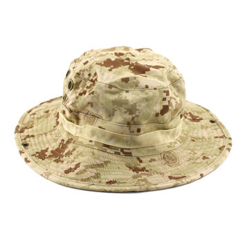 Outdoor Casual Combat Camo Ripstop Army Military Boonie Bush Jun. Deisgned  with adjustable string 1d6b17740d07