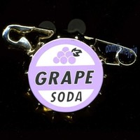 Disney Pin Official Trading *Up* Ellie's Grape Soda Pop Cap Badge (3D)!
