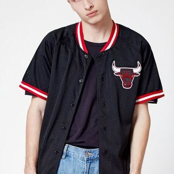 Mitchell and Ness Chicago Bulls NBA Button Up Jersey at PacSun.com