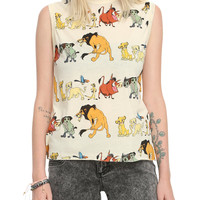 Disney The Lion King Characters Girls Muscle Top