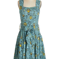 Effie's Heart Long Sleeveless A-line Guest of Honor Dress in Balloons