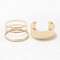 Wrist Cuff and Bangle Set