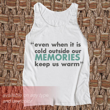 Memories Casual Wear Sporty Cool Tank top Funny Tank Cute Direct to garment