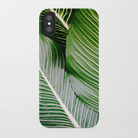Big Leaves - Tropical Nature Photography iPhone Case by Color And Patterns
