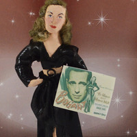 Lauren Bacall Golden Hollywood Movie Star Celebrity Doll Miniature