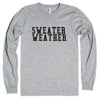 Sweater Weather Winter Holiday-Unisex Heather Grey T-Shirt