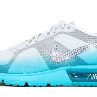 Nike Air Max Sequent + Swarovski Crystal Swoosh - Tiffany Blue