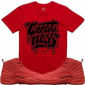 Jordan Retro 12 Gym Red Sneaker Tees Shirt - GREATNESS RK