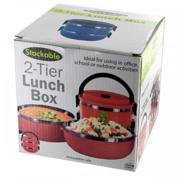 Stackable 2-tier Lunch Box (pack of 4)