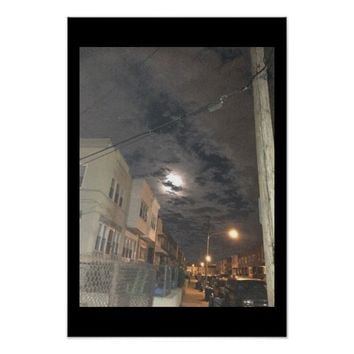 Night Street Photography Poster