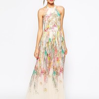 Ted Baker Maxi Dress in Wispy Meadow Print
