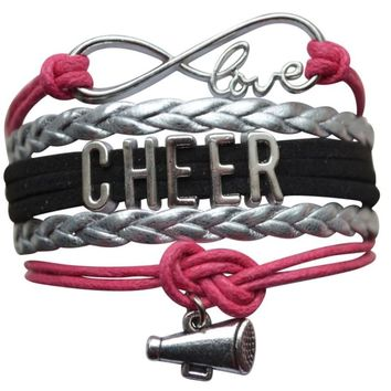 Cheer Bracelet- Girls Cheerleading Bracelet- Cheer Jewelry - Perfect Gift For Cheerleader, Cheer Mom or Team