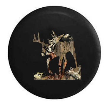 Big Buck Rack Field Woods Deer Hunting RV Camper Jeep Spare Tire Cover