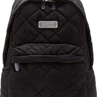 Black Quilted Crowsby Backpack