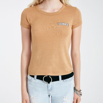 Work Of Art Embroidered Baby Tee | Wet Seal