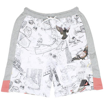 Staple Sketch Sweat Shorts - White