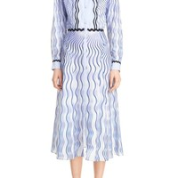 Mary Katrantzou Snuffbox Print Silk & Cotton Midi Shirtdress | Nordstrom